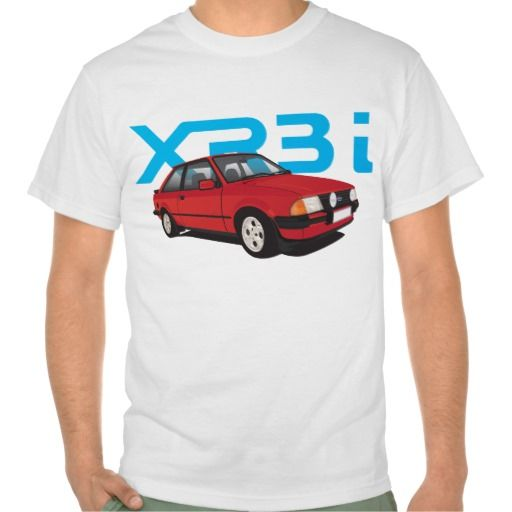 Ford Escort MK3 XR3i red DIY  #ford #escort #fordescort #mk3 #xr3i #tshirt #thirts #automobile #car #uk #80s