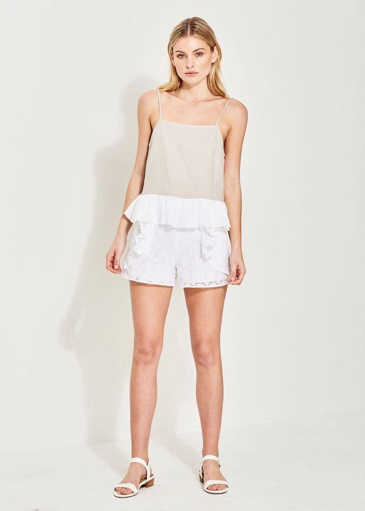 Imonni - Ciara Linen Cotton Lace Cami
