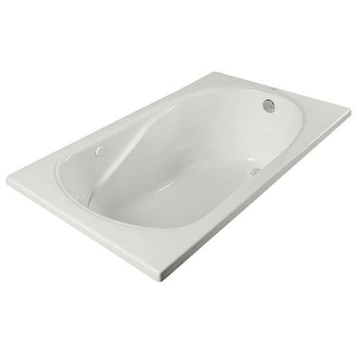 """ProFlo PFS6036A 60"""" X 36"""" Drop-In or Alcove Soaking Bathtub - EasyCare Acrylic (Biscuit)"""