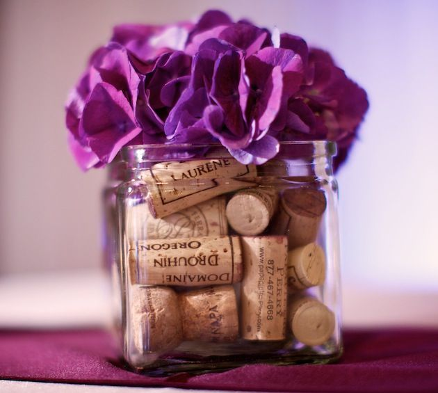 Cute decoration idea that goes with the favors for our wedding.