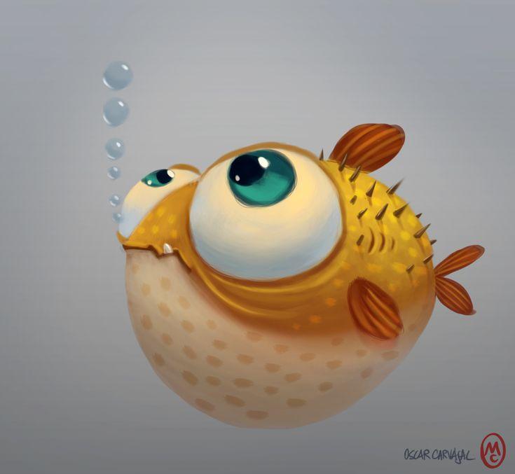 Рыба смешная рисунок