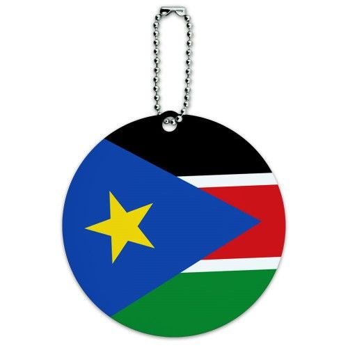 South Sudan National Country Flag Round ID Card Luggage Tag