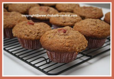 Rhubarb Muffins with Oatmeal Recipe - These were ok for me - kids loved them!  Nice and moist.