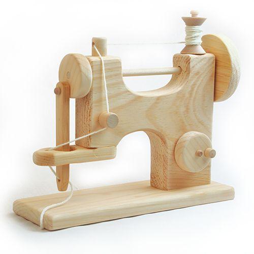 Madeira Máquina de costura de brinquedo, feito nos EUA