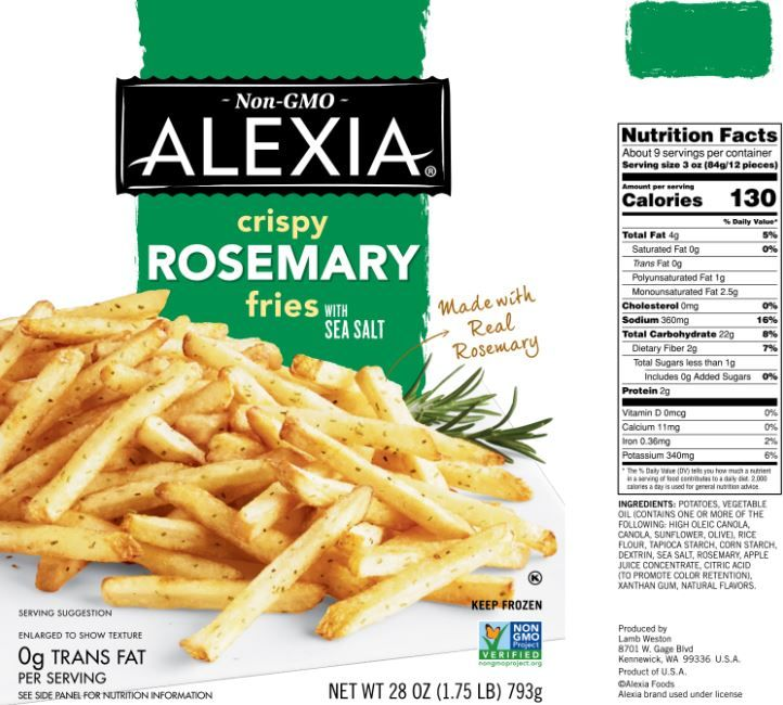 The Updated Nutrition Facts Label As Seen On Alexia Crispy Rosemary Fries Image Courtesy Of Label Insight Nutrition Facts Nutrition Nutrition Facts Label