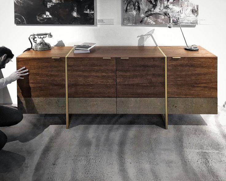 STRIPE SIDEBOARD | marbleous x thinstone #sideboard #design #collaboration #marbleous