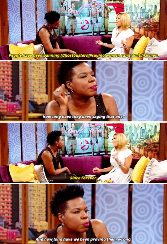 When she had the best damn response to the criticisms of Ghostbusters' all-female cast.   19 Times Leslie Jones Was A Gift We Didn't Deserve