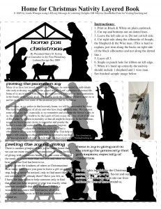 Layered nativity book for VT message. With pic of Shepard tells promise of joy, pic of wise men tells joy in giving gifts.