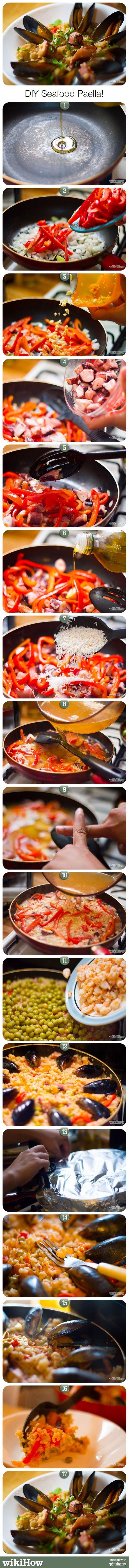 Seafood Paella Recipe!