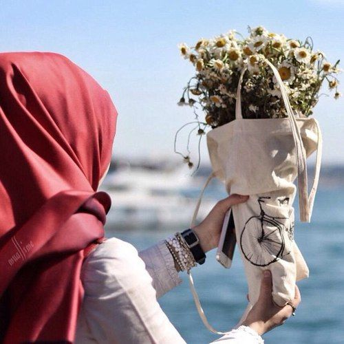 รูปภาพ flowers, hijab, and islam