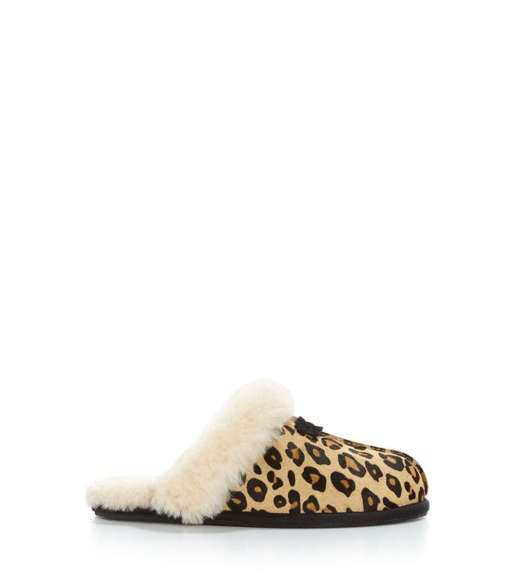 Original UGG® Scuffette II Calf Hair Leopard (Boxed for Gifting) Indoor Slippers for Women on the official UGG® website. Free standard delivery & returns.
