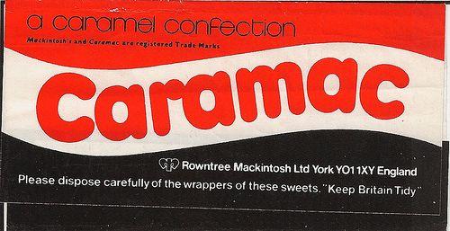 Caramac Bar wrapper rear | Flickr - Photo Sharing!