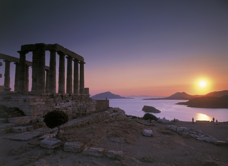 The most beautiful sunset > Cape Sounio and the Poseidon Temple. Drive along the picturesque coastal road from Astir Palace to Cape Sounio (46km) to enjoy this memorable sunset.