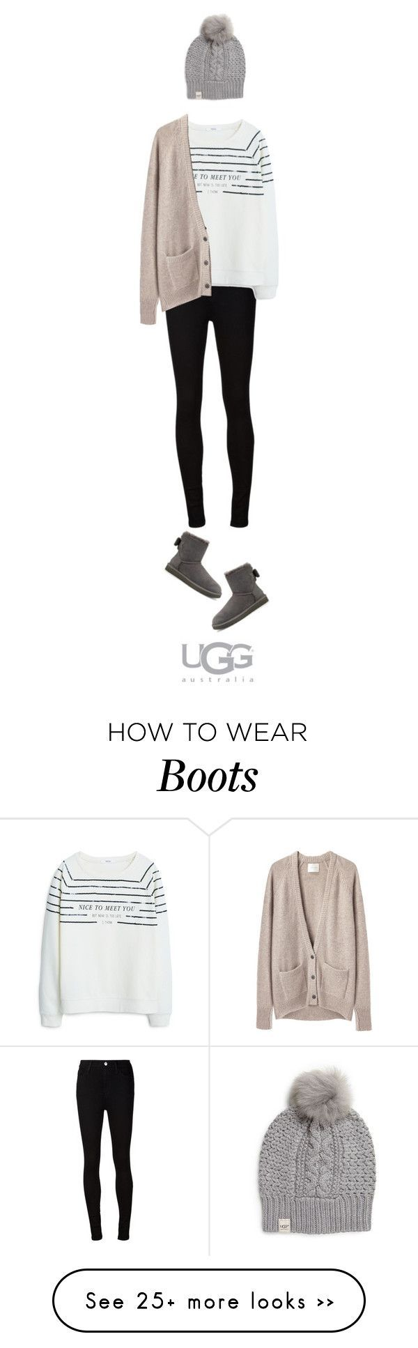 """""""Boot Remix with UGG : Contest Entry"""" by smileyface2299 on Polyvore featuring AG Adriano Goldschmied, UGG Australia, MANGO and La Garçonne Moderne"""