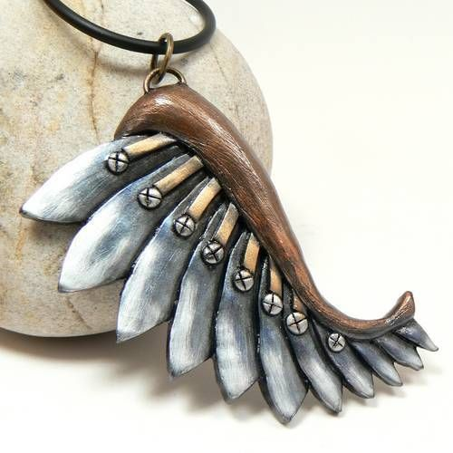 From the Craftster Community: A new steampunk wing - POTTERY, CERAMICS, POLYMER CLAY