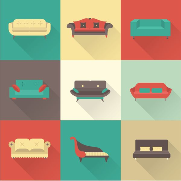 Flat Icons by Irina Kerasoshvili, via Behance