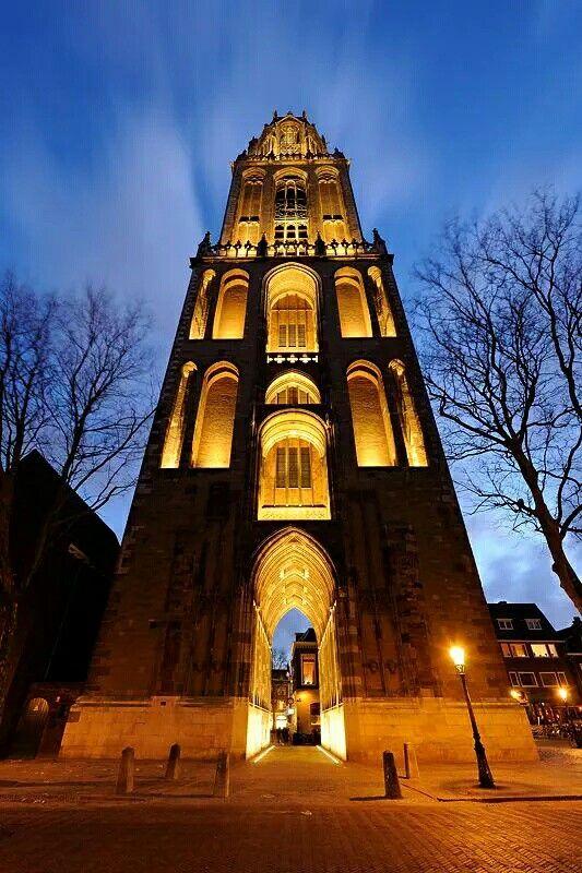 Utrecht domtower donker utrecht