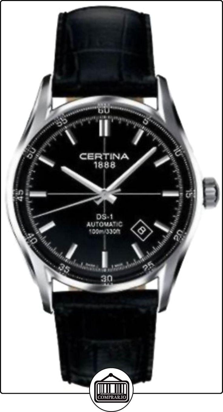 Certina  0 - Reloj de automático para hombre, con correa de cuero, color negro de  ✿ Relojes para hombre - (Gama media/alta) ✿