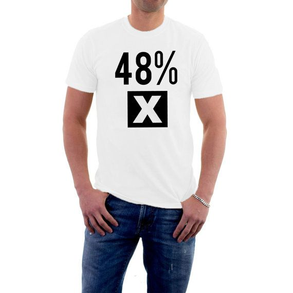 Were you one of the 48% who voted against leaving the #EU ?Tell the world /country/continent your preference and say it with pride. Long-lasting print on 185 gsm Gildan , Re... #election #vote #politics #voting #polling #eu #europe #referendum #uk ➡️ http://etsy.me/2jpWmOq