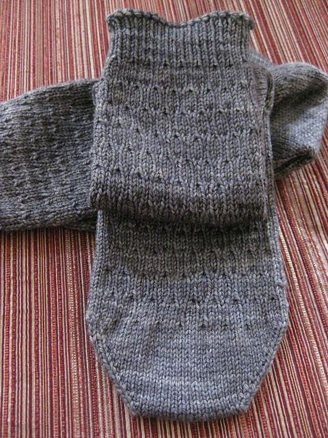 Syncopation Socks by Mary Henninger, designed for her SIL. They're great for men who are 'not so adventurous' in their fashion choices, and the pattern is FREE on Ravelry!