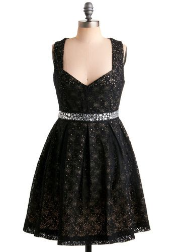 Eyelet Up the Room Dress, #ModCloth: Clothes, Modcloth, Dresses, Black Dress, Rooms