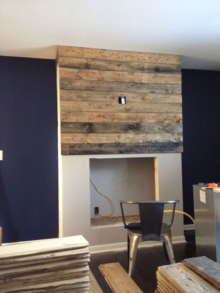 How To Create A Diy Reclaimed Wood Fireplace Surround For Less Than 100 Bonus Rooms