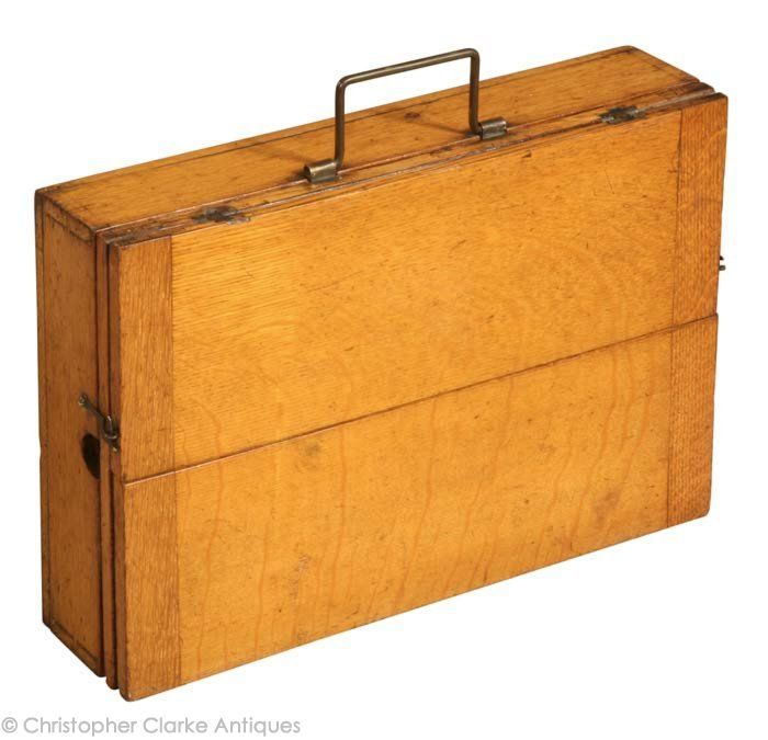Briefcase Campaign Table   Ca 1900. (Christopher Clarke Antiques)