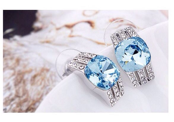 Aquamarine Swarovski crystal earrings. www.arcussi.com.au www.facebook.com/arcussi