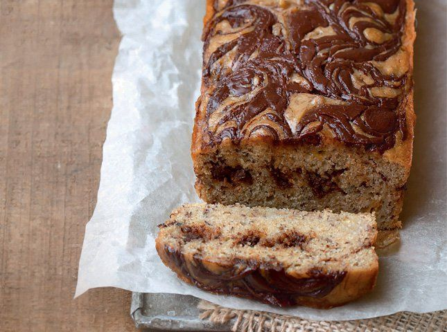 Take your fave banana bread a notch higher by swirling melted chocolate through the batter before baking!
