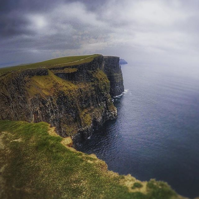 The impressive but dangerous #cliffsofmoher are an amazing site. Rising over 200 metres out of the Atlantic Ocean on Irelands wild west coast