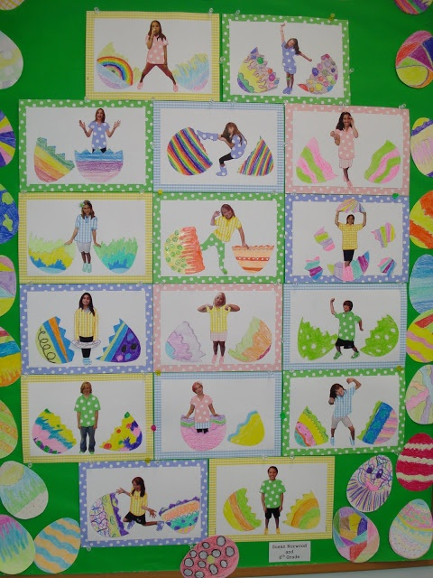 Sudio's Studio: Easter Bulletin Board such a great idea for hatching in spring but seems really hard
