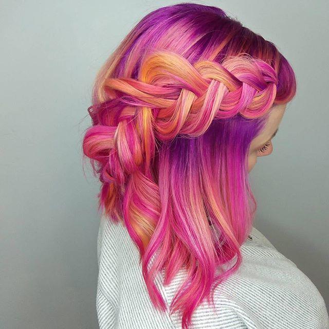 "AMAZING HAIR: Lemon Strawberry Sorbet by @serahdoeshairahh ""When a creative idea is…"