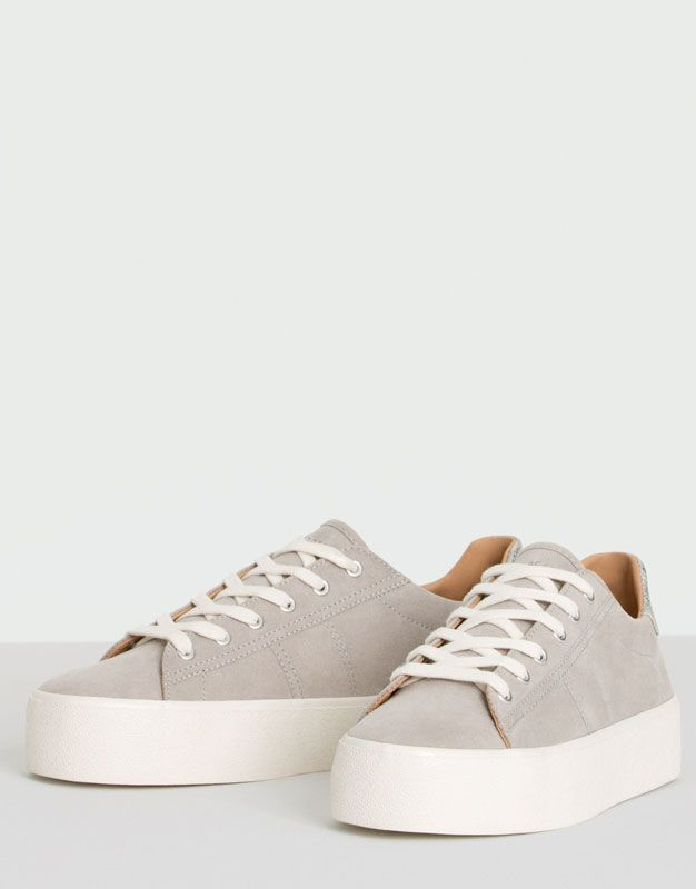 New college plimsolls - See all - Shoes - Woman - PULL&BEAR Colombia
