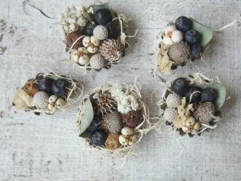 木の実のアレンジ dryflower ドライフラワー  FLEURI blog