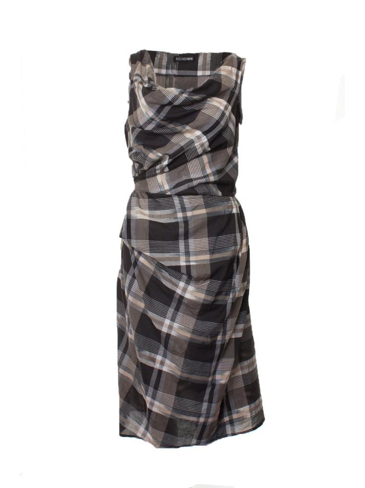 Religion Clothing Dress Suspect In Jet Black/Powder Blue.