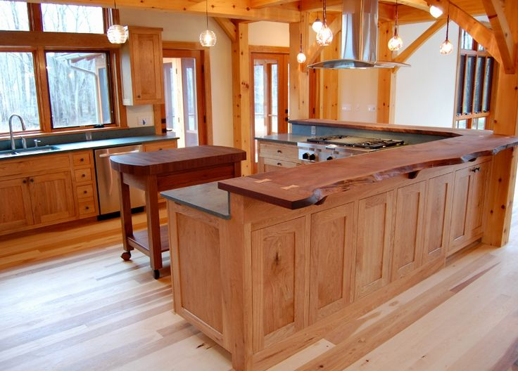 17 best images about timber frame kitchens on pinterest for Live edge kitchen island
