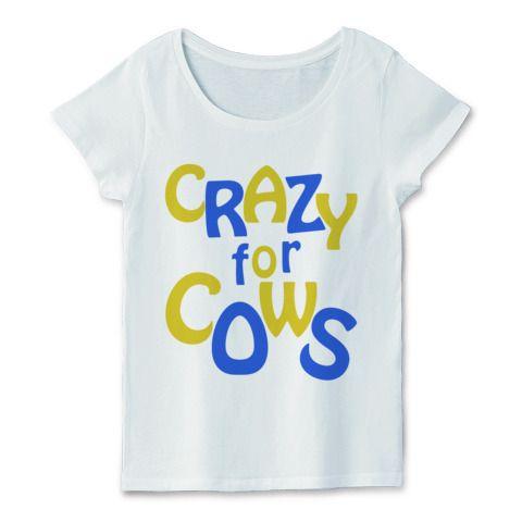 CRAZY for COWS(黄青) | デザインTシャツ通販 T-SHIRTS TRINITY(Tシャツトリニティ)