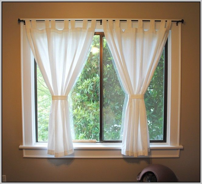 short curtains for windows ideas living room - Window Treatments For Small Living Rooms