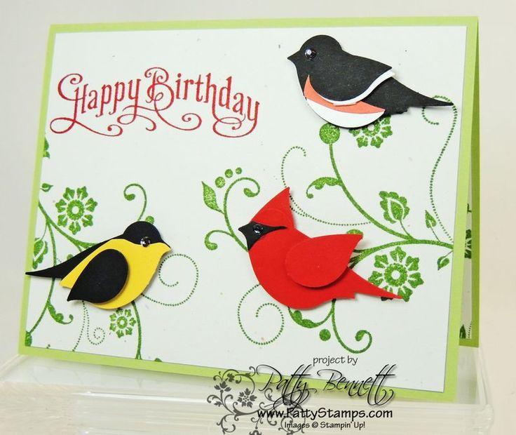 Открытка ко дню птиц своими, акварелью цветы