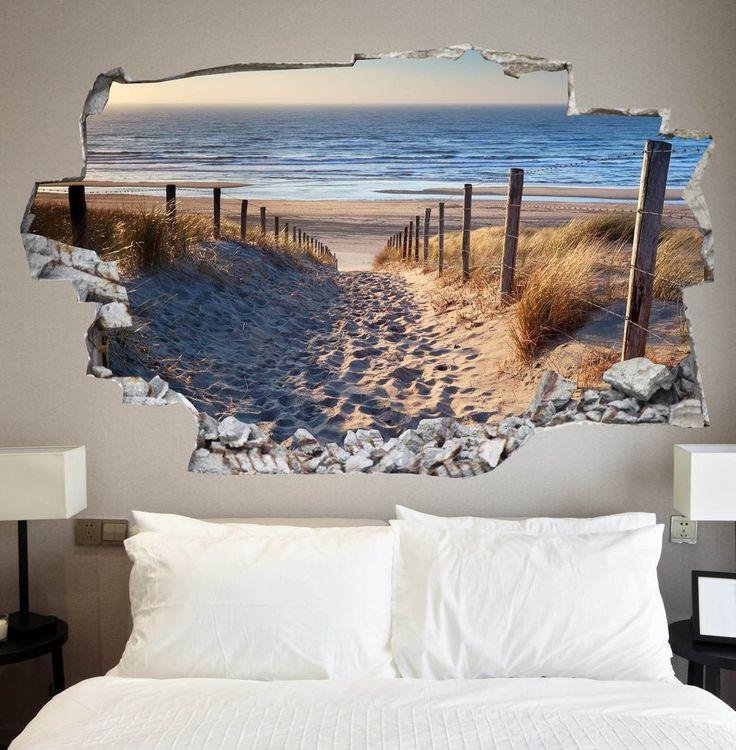 Beach Decals | Beach Wall Stickers | Vinyl 3d | CAB.120