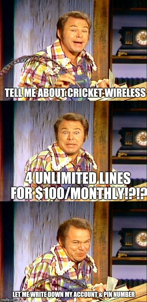 Roy Clark Puns Roy clark, Cricket wireless, Puns