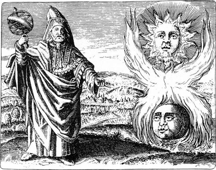 "Hermès Trismégiste - Illustration tirée du ""Viridarium chymicum"" de D. Stolcius von Stolcenbeerg, 1624"