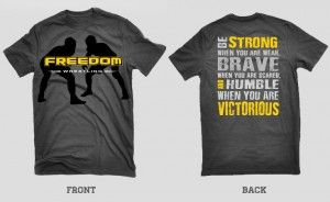 New Freedom Wrestling Shirts for Sale Strong & Victorious