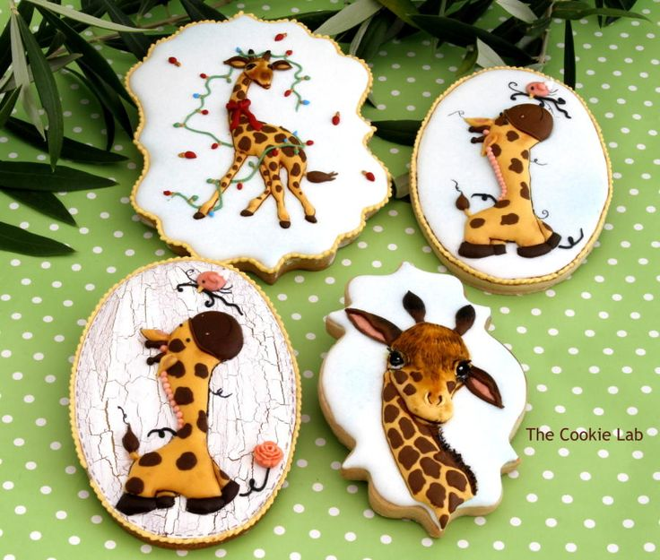 "Dreamland Collaboration  ""Giraffes Party at the Zoo"" ! by The Cookie Lab - Bolachas Decoradas Artesanais"