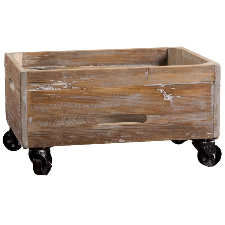 Great for storing toys!!: Reclaimed Wood, Stratford Reclaimed, Boxes, Wood Rolling, Rolling Box, Stratford Rolling, Woods, Uttermost Stratford