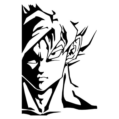 Goku Die Cut Vinyl Decal PV969 for Windows, Vehicle Windows, Vehicle Body Surfaces or just about any surface that is smooth and clean