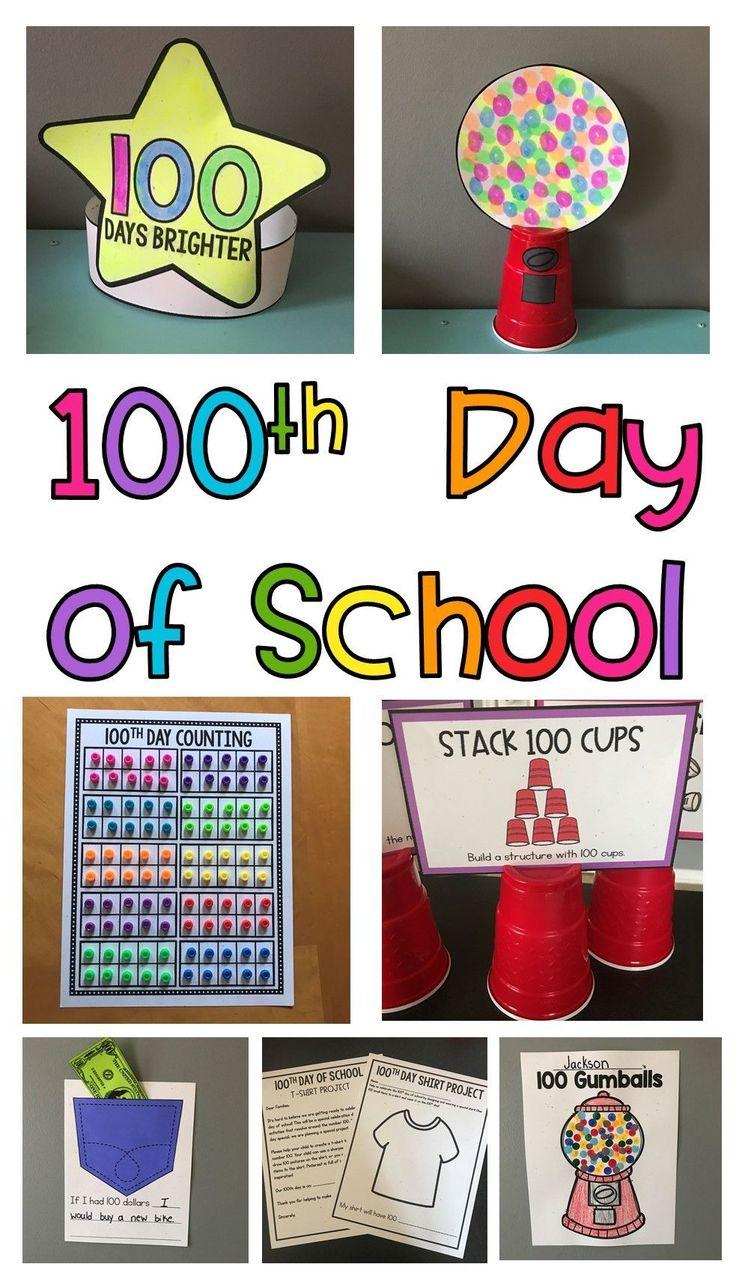 100th Day of School ideas, activities, crafts, and printables! #Setupasimplefinemotoractivitytoworkonletterrecognition