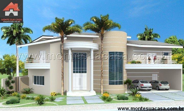 Planta de Sobrado - 3 Quartos - 204m² - Monte Sua Casa