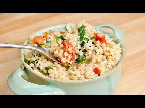 Garlicky and Cheesy One-Pot Ptitim - Jewlish