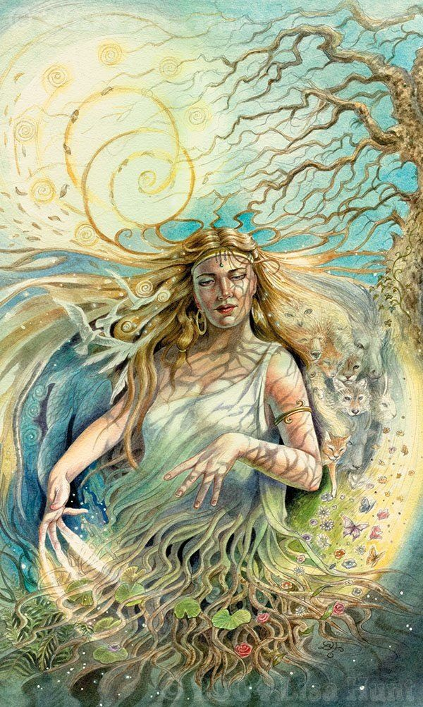 Gaia is the primordial Greek goddess personifying the Earth,